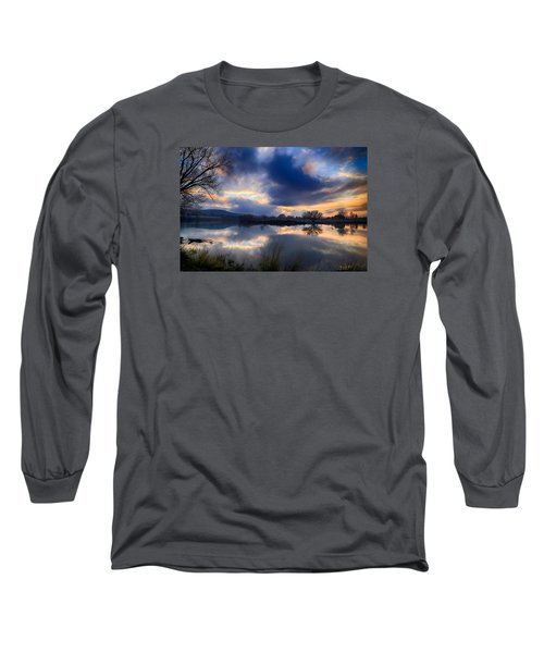 Winter Colors At Sunset Long Sleeve T-Shirt by Lynn Hopwood