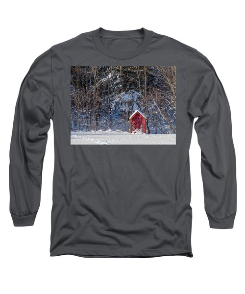 Winter, Down East Maine  Long Sleeve T-Shirt by Trace Kittrell