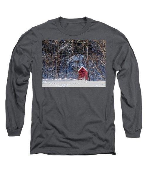 Winter, Down East Maine  Long Sleeve T-Shirt
