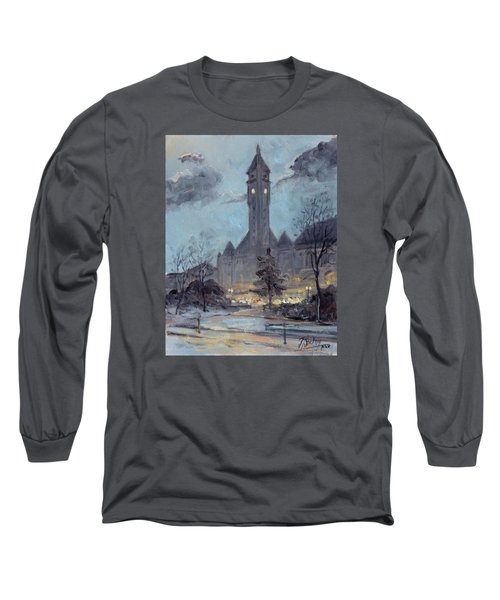 Winter Dusk - Union Station Long Sleeve T-Shirt by Irek Szelag