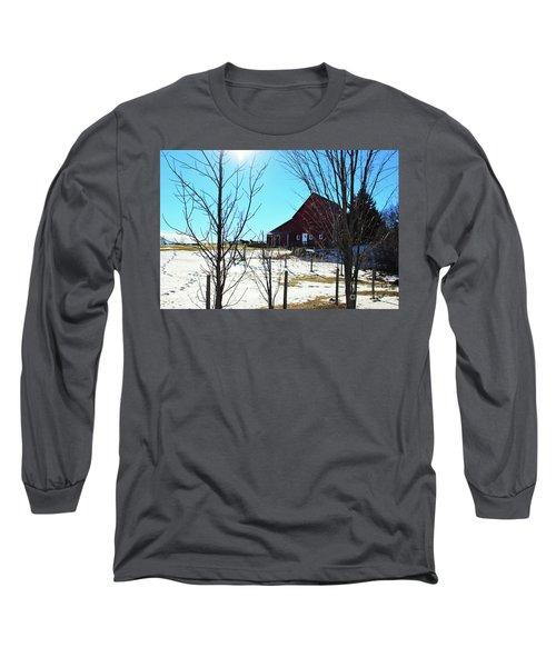 Winter Farm House Long Sleeve T-Shirt