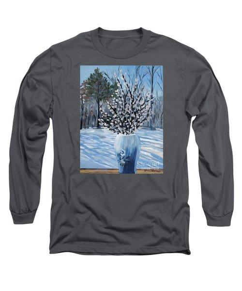 Winter Floral Long Sleeve T-Shirt