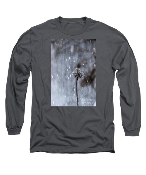Winter Flower Long Sleeve T-Shirt by Yumi Johnson