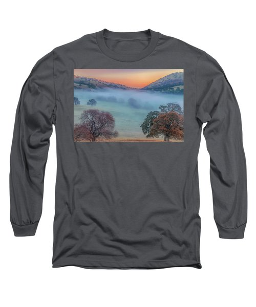 Winter Fog At Sunrise Long Sleeve T-Shirt