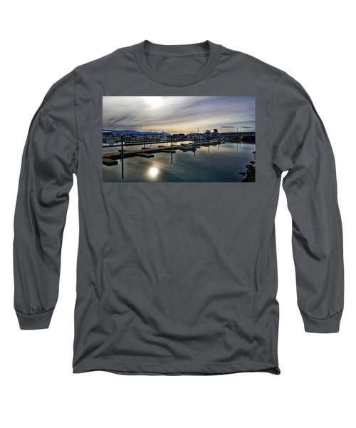 Long Sleeve T-Shirt featuring the photograph Winter Harbor Revisited #mobilephotography by Chriss Pagani