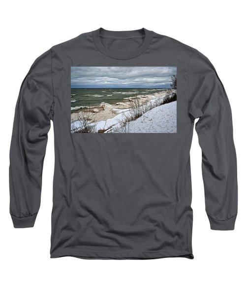 Winter Ice On Lake Michigan Ll Long Sleeve T-Shirt
