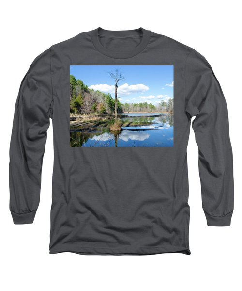 Long Sleeve T-Shirt featuring the photograph Winter Lake View by George Randy Bass
