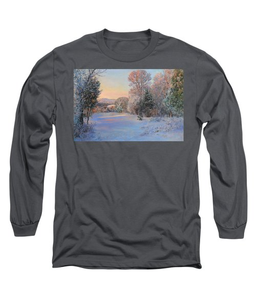 Winter Landscape In The Morning Long Sleeve T-Shirt