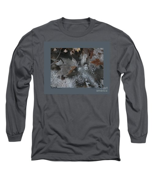 Winter Leaf Abstract-ii Long Sleeve T-Shirt by Patricia Overmoyer