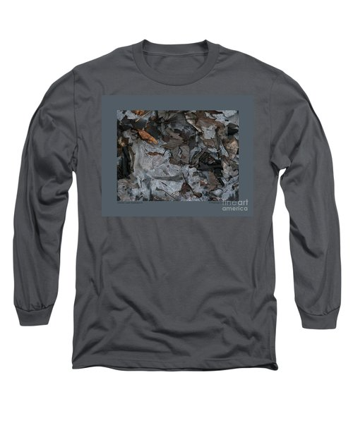 Winter Leaf Abstract-iii Long Sleeve T-Shirt by Patricia Overmoyer