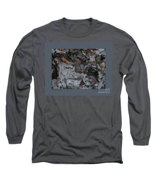 Winter Leaf Abstract-iii Long Sleeve T-Shirt