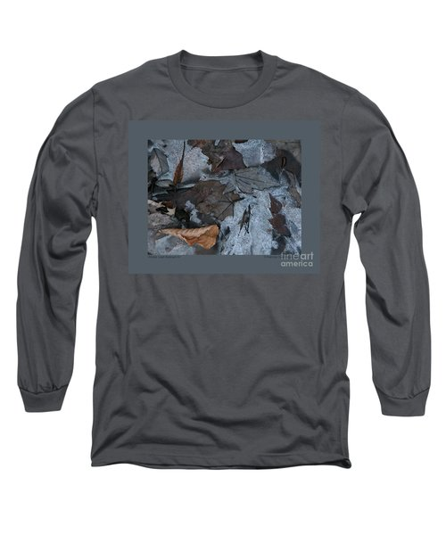Winter Leaf Abstract-iv Long Sleeve T-Shirt by Patricia Overmoyer