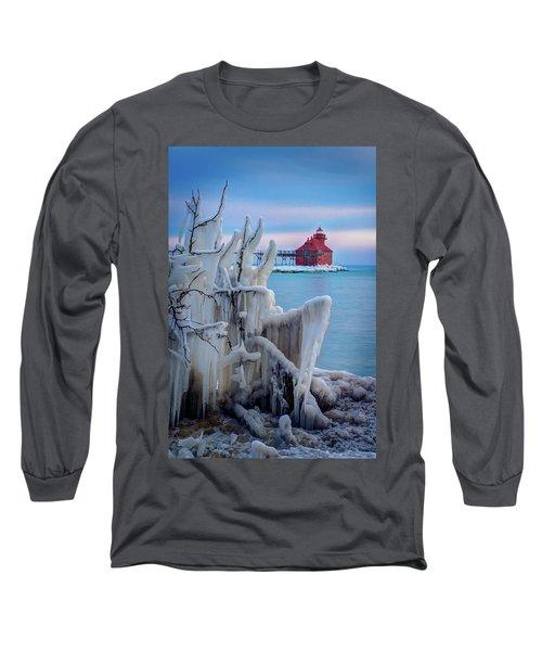 Winter Lighthouse Long Sleeve T-Shirt