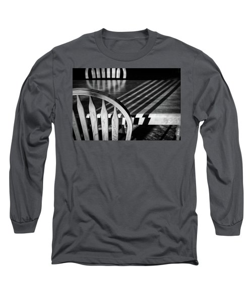 Winter Morning Shadows Long Sleeve T-Shirt