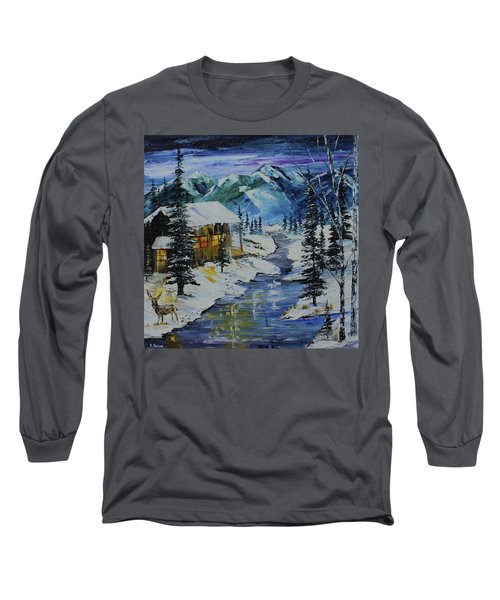 Winter Mountains Long Sleeve T-Shirt