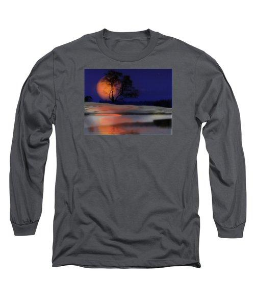 Winter Night Long Sleeve T-Shirt by Dr Loifer Vladimir