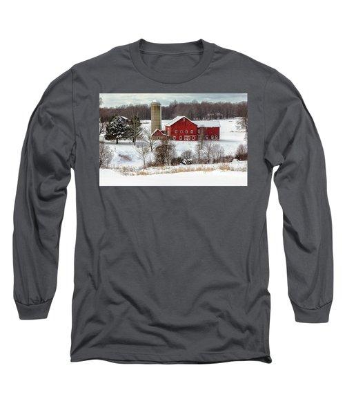 Winter On A Farm Long Sleeve T-Shirt