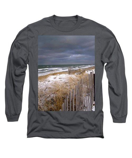 Winter On Cape Cod Sandy Neck Beach Long Sleeve T-Shirt