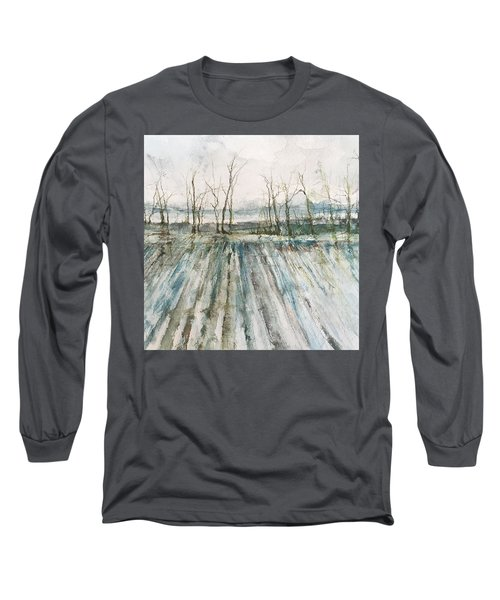 Winter On The Delta Long Sleeve T-Shirt by Robin Miller-Bookhout