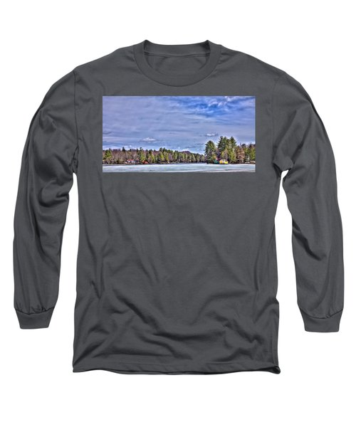 Long Sleeve T-Shirt featuring the photograph Winter On The Pond by David Patterson