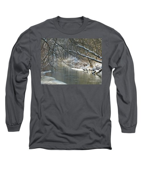 Winter On The Stream Long Sleeve T-Shirt
