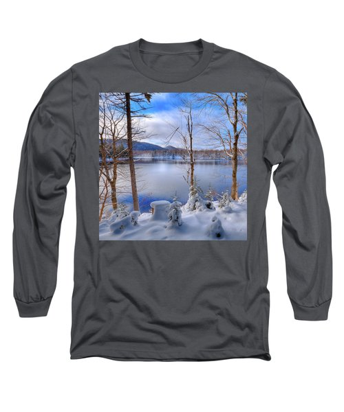 Winter On West Lake Long Sleeve T-Shirt by David Patterson