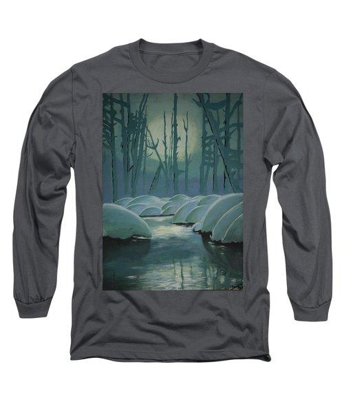 Winter Quiet Long Sleeve T-Shirt by Jacqueline Athmann