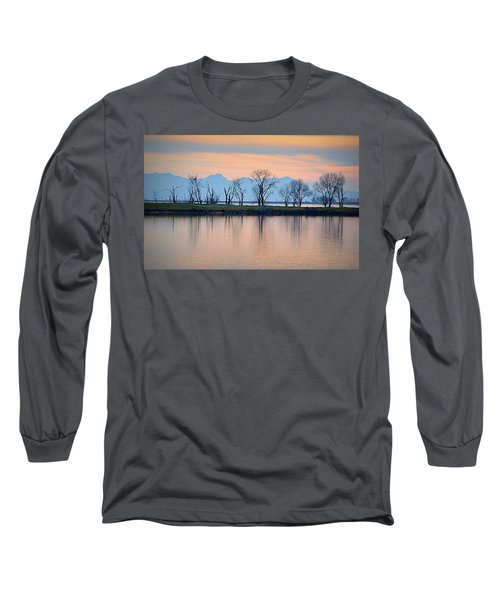 Long Sleeve T-Shirt featuring the photograph Winter Reflections by AJ Schibig