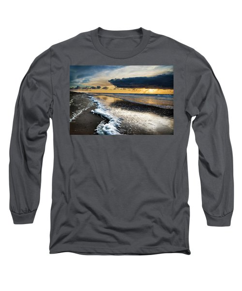 Winter Sea Sunset Long Sleeve T-Shirt