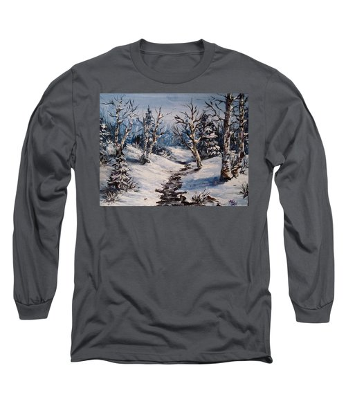 Winter Silence Long Sleeve T-Shirt by Megan Walsh