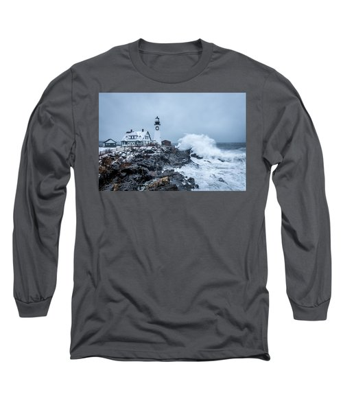 Winter Storm, Portland Headlight Long Sleeve T-Shirt
