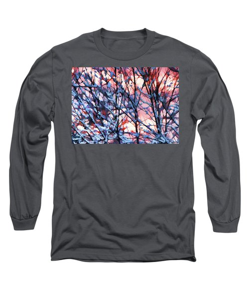 Winter Sunrise Long Sleeve T-Shirt by Betsy Zimmerli