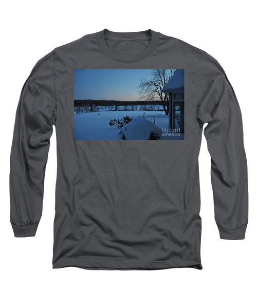 Long Sleeve T-Shirt featuring the photograph Winter Sunrise On Demond Pond by John Black