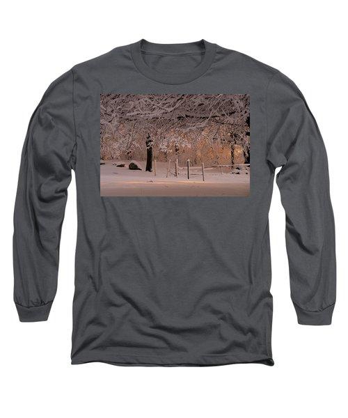 Winter Sunset Ft Hill Park Long Sleeve T-Shirt