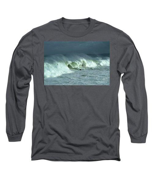 Winter Surf On Monterey Bay Long Sleeve T-Shirt