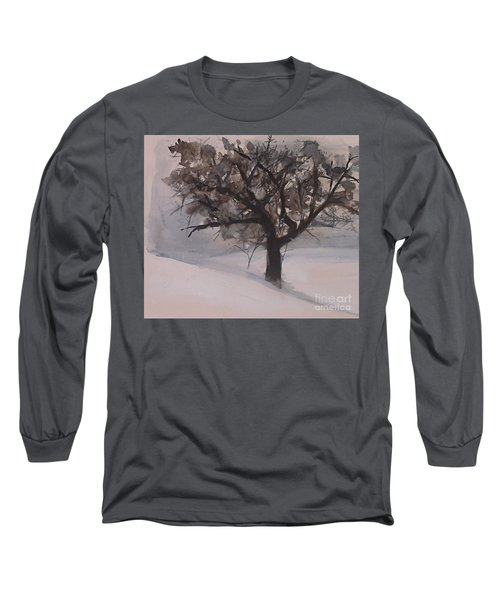 Winter Tree Long Sleeve T-Shirt by Laurie Rohner