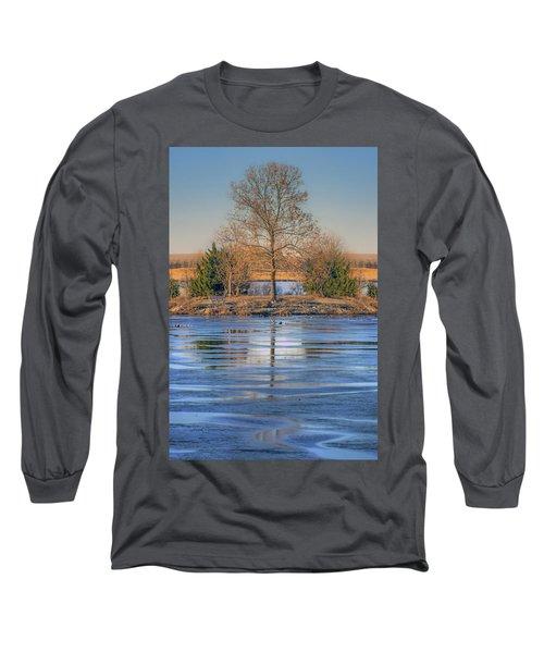 Winter Tree - Walnut Creek Lake Long Sleeve T-Shirt