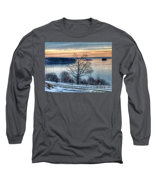 Winter Twilight At Fort Allen Park Long Sleeve T-Shirt