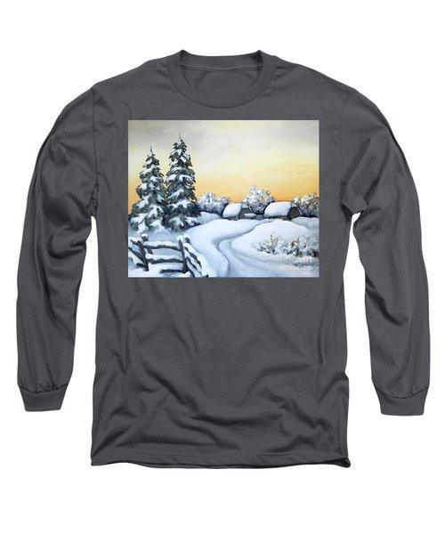Winter Twilight Long Sleeve T-Shirt