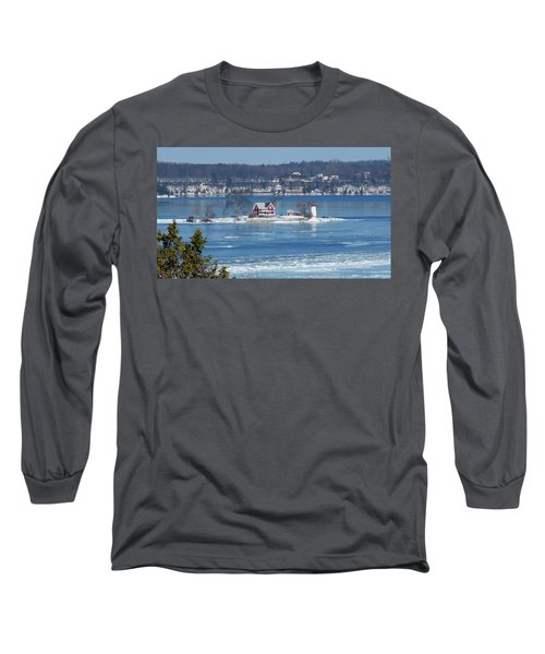 Winter View Of Crossover Island Long Sleeve T-Shirt