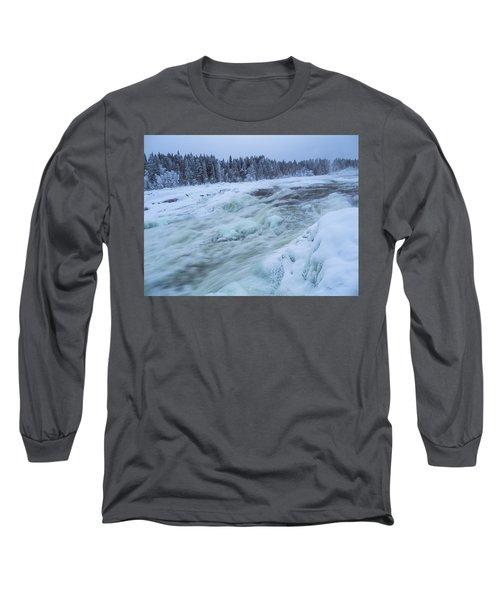 Winter Waterfall Long Sleeve T-Shirt by Tamara Sushko