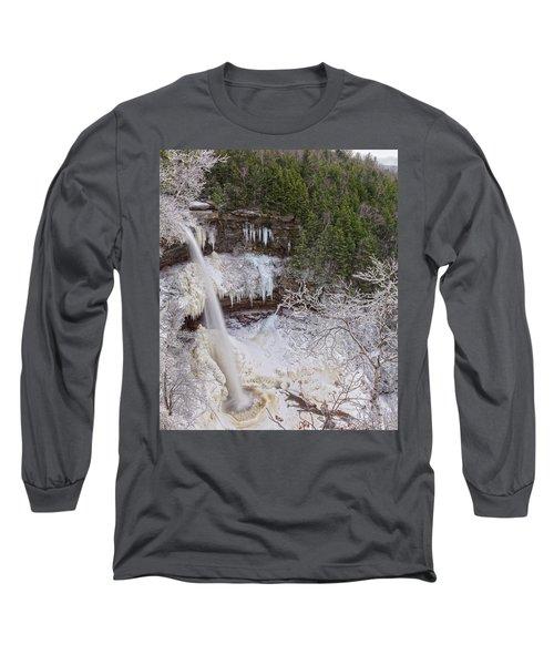Winter Wonderland At Kaaterskill Falls Long Sleeve T-Shirt