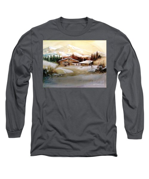 Long Sleeve T-Shirt featuring the painting Winter Wonderland  by Hazel Holland