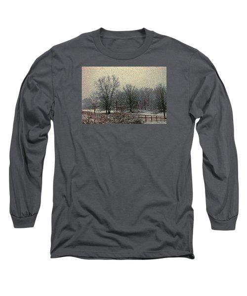 Winter's First Snowfall Long Sleeve T-Shirt