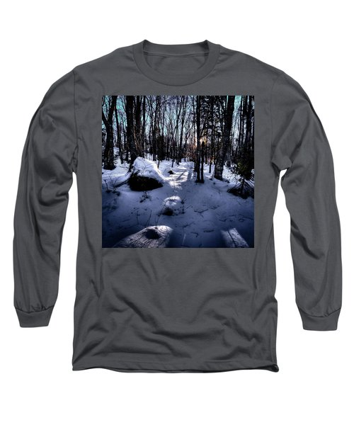 Long Sleeve T-Shirt featuring the photograph Winters Shadows by David Patterson