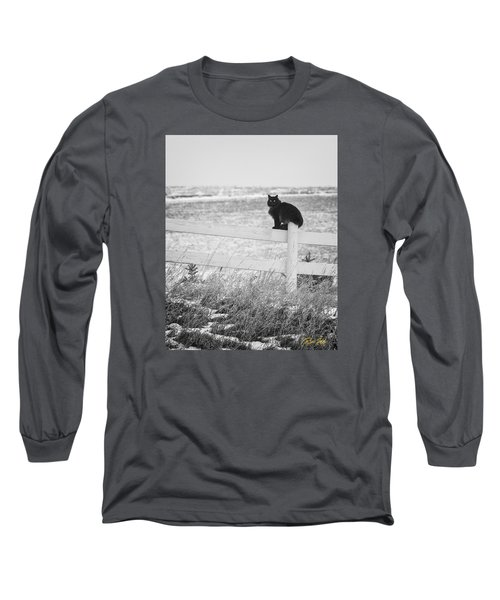 Long Sleeve T-Shirt featuring the photograph Winter's Stalker by Rikk Flohr