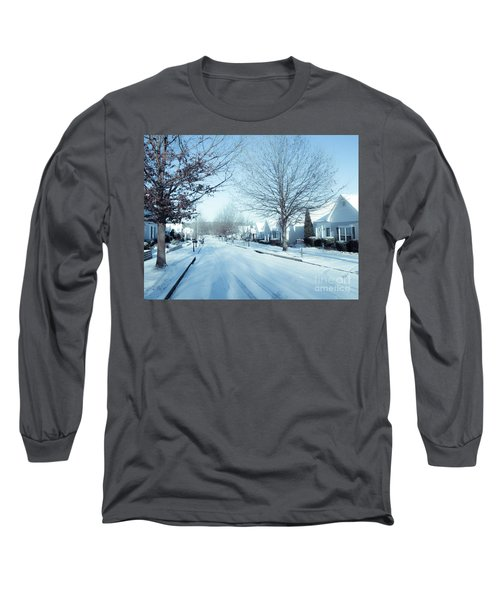 Wintry Snow Fall - Georgia Long Sleeve T-Shirt