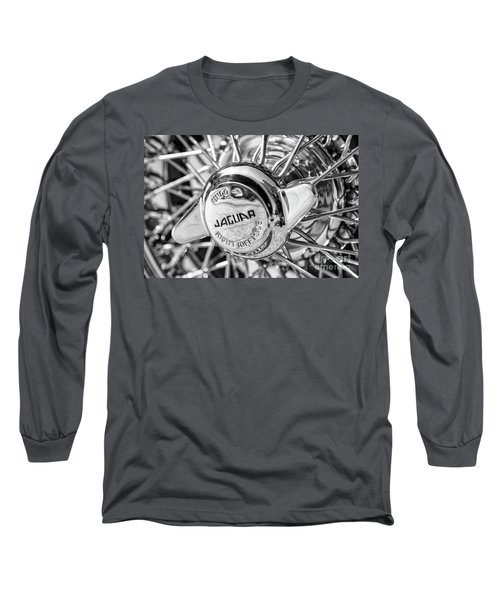 Long Sleeve T-Shirt featuring the photograph Wire Wheel Black And White by Dennis Hedberg