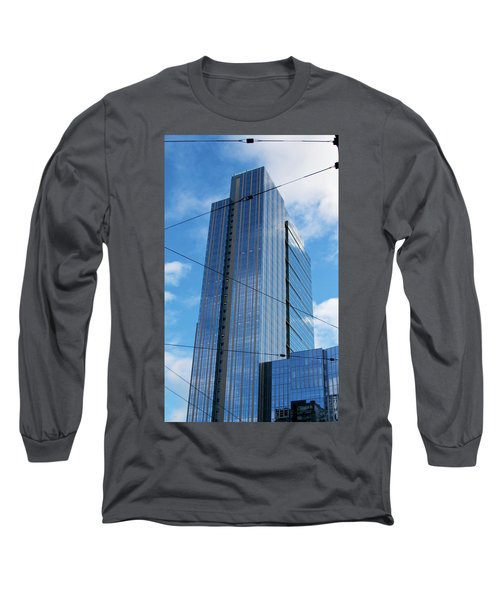 Long Sleeve T-Shirt featuring the photograph Wired In Seattle - Skyscraper Art Print by Jane Eleanor Nicholas