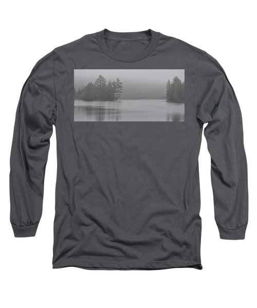 Wisconsin In Grey And Green Long Sleeve T-Shirt
